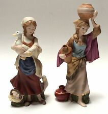 "Kinkade Hawthorne Village Nativity ""Bountiful Water Bearer Peasant Maiden"""