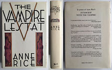 The Vampire Lestat Anne Rice SIGNED 1985 First Edition w/ dj Horror Bram Stoker