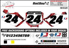 Team Bad Boy Motocross Number Plate Graphics 02-07 Honda CR 85 by ENJOY MFG