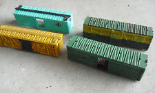 Lot of 4 Vintage 1980s Ho Scale Cattle Car Shells Mkt Santa Fe Atsf NorthW