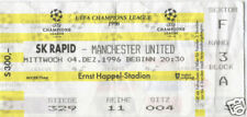 OLD TICKET CL Rapid Wien Austria Manchester United