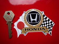 HONDA Flags & Scroll classic sports car sticker CIVIC S800 INTEGRA BEAT JAZZ NSX