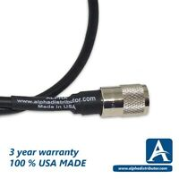 3-FT – RG8X (MINI RG8U) JUMPER CABLE WITH AMPHENOL'S PL-259 HAND SOLDERED