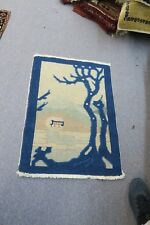 "ANTIQUE ART DECO CHINESE ORIENTAL RUG 24"" X 35""  HAND KNOTTED WOOL SCENE"