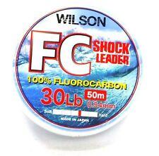 2 x Flurocarbon Fishing Leader Line 30lb each spool is 50 metres BRAND NEW