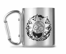 OFFICIAL RICK AND MORTY CARABINER CLIP HANDLE METAL COFFEE MUG CUP