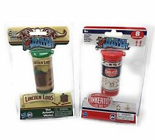 Worlds Smallest Lincoln Logs  and Tinker Toy Worlds Smallest Toy - Set of 2
