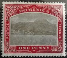 DOMINICA KE VII 1903-07 1d GREY & RED MINT HINGED S.G.28 VERY GOOD CONDITION