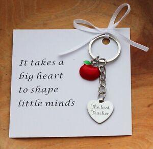 THANK YOU GIFT FOR  TEACHER -Teaching assistant ,Nursery teacher Keyring + Card