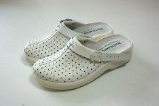 Real Leather Clog Shoes Vent Detail Hospital Vet BNIB UK Size 8 Euro 41 #123