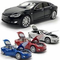 1:32 Tesla Model S 100D Sedan Model Car Diecast Toy Vehicle Sound & Light Kids