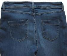 New Womens Marks & Spencer Per Una Blue Slim Leg Jeans Size 12 Medium DEFECTS