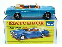 Matchbox Lesney No.69c Rolls-Royce Silver Shadow 'F2' Black Script Superfast Box