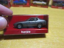 herpa - Scale 1/87 - MINIATUR AUTOMOBILE - Porsche 924 - Grey - Mini Toy Car