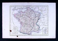 1832 Antique Map Delamarche France in Provinces Paris Tours Marseille Amiens