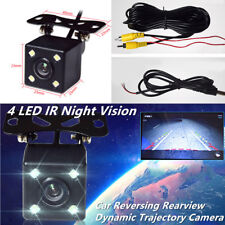 Night Vision 4 LED IR Car Reverse Rearview Dynamic Trajectory Camera 150° Angle
