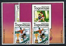 Togo 1282 Block 128 je A + B postfrisch / Fußball .........................1/635