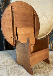 Antique Miniature Round Hutch Table Salesman Sample Doll Colonial American 1700s