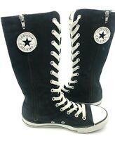 Women's Zippered Converse All Star Mid Calf Boot Shoe Black Size 4.5 Mens 3