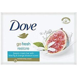 Dove Bar Soap Go Fresh Beauty Cream Blue Fig & Orange Blossom 135 Gr PACK OF 10
