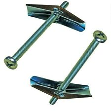 PLASTERBOARD SPRING TOGGLE FIXINGS WITH SCREWS, HOLLOW CAVITY WALL ANCHORS UK