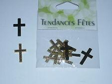 10 motifs à coller croix doré, 2 cm. Hobi. Décoration de mariage