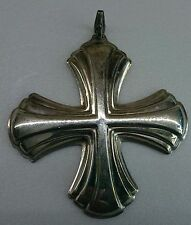 REED & BARTON Silver Annual CHRISTMAS CROSS Sterling Ornament - 1980