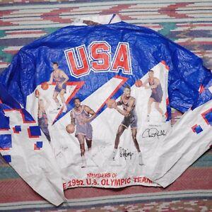 Vintage USA Olympic Basketball Jacket Adult Large Tyvek Kelloggs NBA Mens 90s