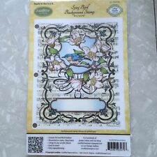 Justrite Cling Song Bird Background Rubber Stamp CL-03970 Amy Fedder Collection