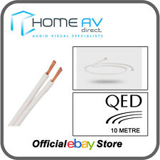 2 X 2m QED 79 Strand OFC White Speaker Cable Terminated 4mm Banana Plugs