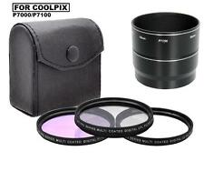 58mm 3 Piece Lens Filter Kit (CPL, FLD, UV) for Nikon Coolpix P7000 P7100