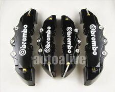 Black 3D Style Universal Disc Brake Caliper Covers 4pcs Front & Rear