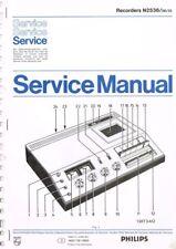 Philips Cassettendeck N2536 Schaltplan  ORIGINAL Manual 15 Seiten