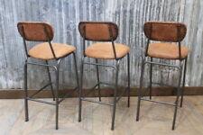 Leather Industrial Stools & Breakfast Bars