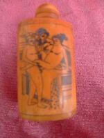 Vecchio Snuff - Bottle__Erotica Rappresentazioni Distintivo __ di Cina __