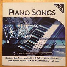 Piano Songs - 2CD - Elton John David Gray Seal Jewel Tori Amos Fleetwood Mac Etc