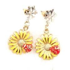 E774 BETSEY JOHNSON  Ladybird Lady Beetle Bug Yellow Sun Flower Earrings