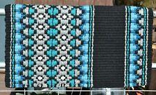 """Mayatex Starlight Oversize Show Saddle Blanket Pad 40"""" x 34"""" -Turquoise/Blue"""