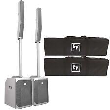Electro-Voice Evolve 50 Powered Column DJ PA Speaker System in White w Bluetooth