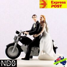 Bride and Groom Motorcycle Get Away Wedding Cake Topper New EXPRESS