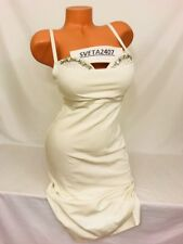 Victoria's Secret Bombshell Add 2Cup Slim Fit Mega Bling Gems OffWhite Dress 34D