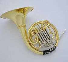 Professional Anniversary Gold Lacquer Double French Horn 200 Model With Case