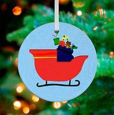 "Oopsy Daisy Keepsake Ornament, Santa's Sleigh, 3""x 3"""