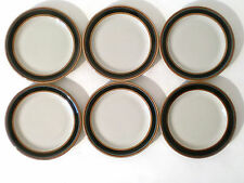 "6x Teller Arabia ""Taika""  ceramic set of dessert plate Inkeri Leivo Finland"