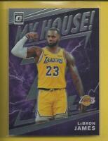 LeBron James 2019-20 Donruss Optic My House! Insert Card Los Angeles Lakers NBA