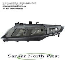 For Honda Civic Mk8 Passenger  Front Headlamp Headlight N/S LEFT 2006 to 2012