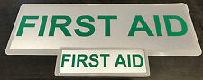 FIRST AID REFLECTIVE BADGE PACK - LARGE 300mm X 100mm / small 135mm x 45mm