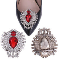 1Pc Rhinestone crystal shoes clip buckle women shoe sandals charm accessories xd