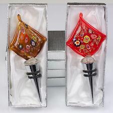 2x Flaschenverschluß Glas Murano Stil Flaschenstöpsel Glasverschluss bottle cap