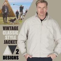 Mens Harrington Jacket Classic Coat Vintage Bomber Outerwear Golf Walking S-2XL